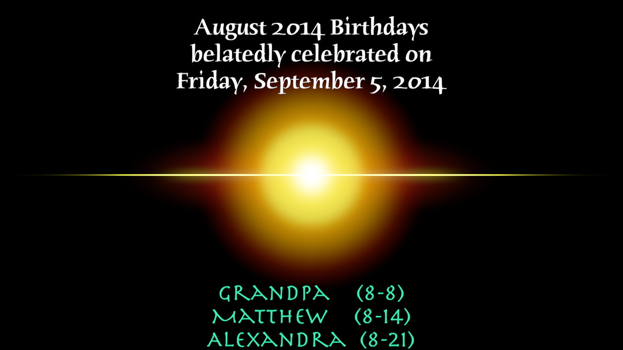 August BD's 2014