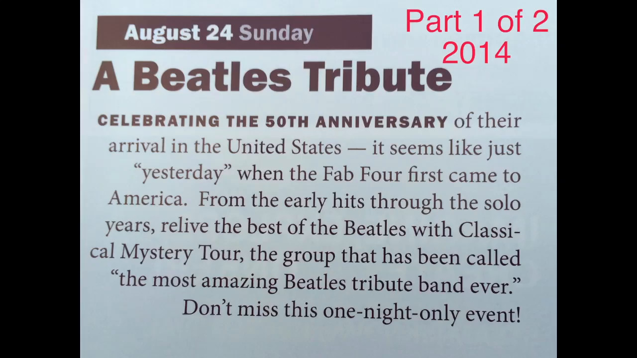 Beatles @ Blossom==Part 1 of 2