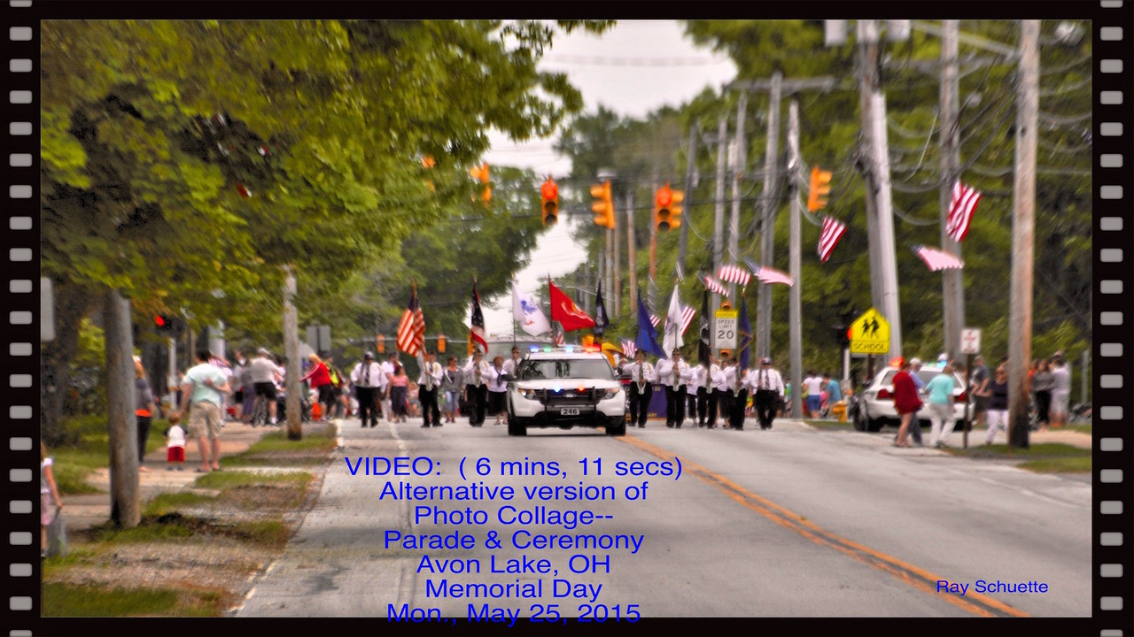 Video:  ( 6 mins, 11 secs) Parade & Ceremony Photo Collage
