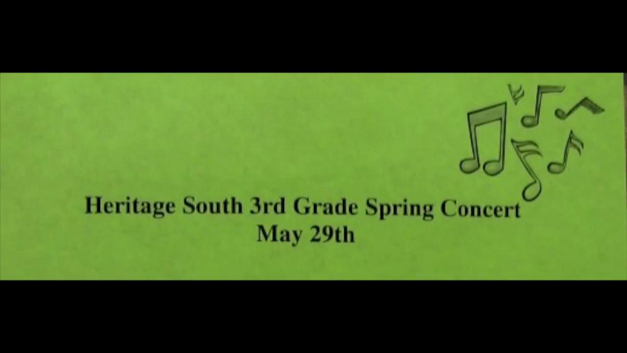 3rd Grade Spring Concert 5-28-13